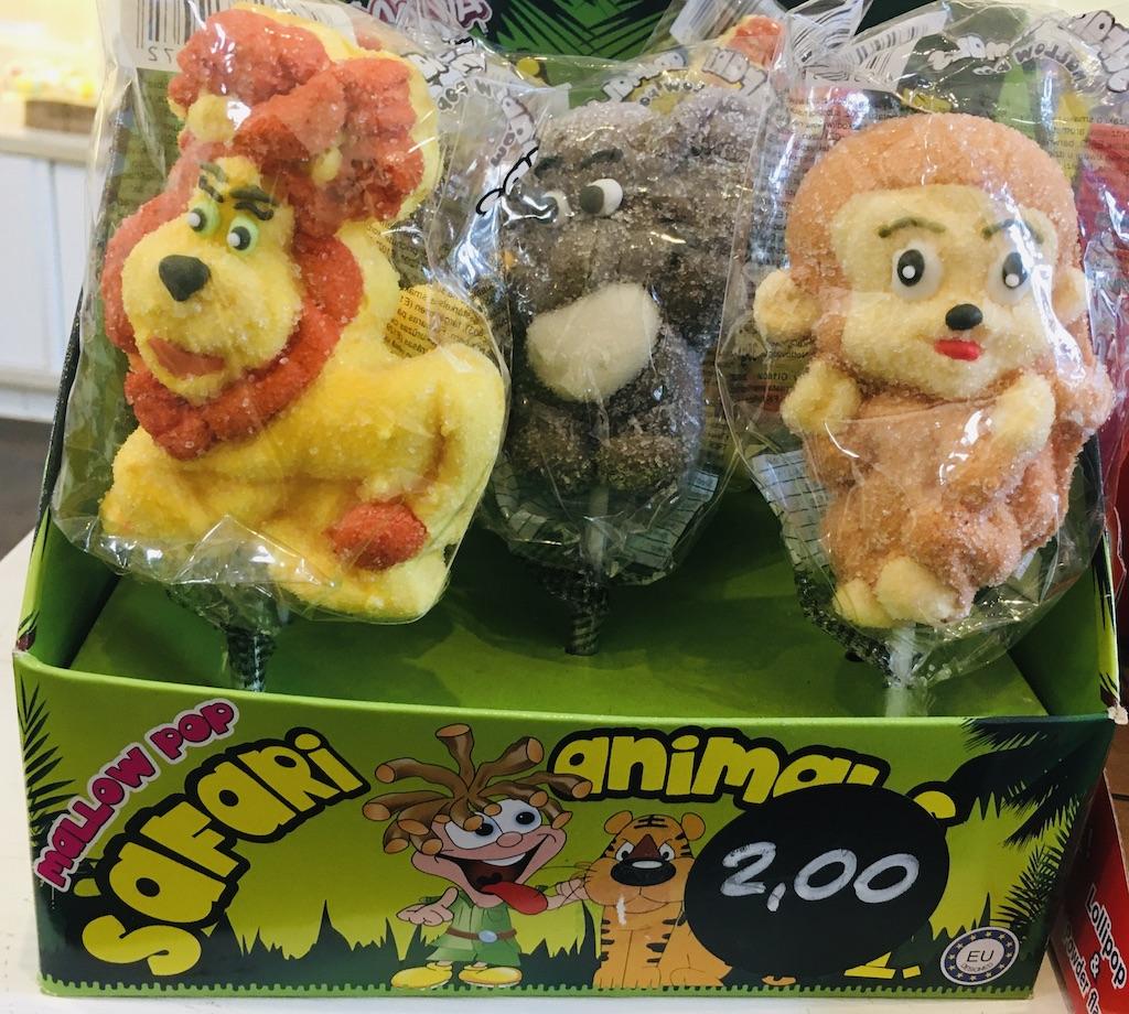 Safari Animal Zuckerfiguren Marshmallow Pop
