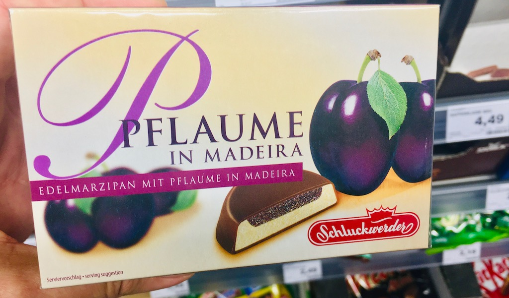 Schluckwerder Pflaume in Madeira Edelmarzipan 4-49 Euro