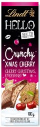 "Lindts Hello-Schokolade ""XMAS CHERRY"" hat die Geschmacksrichtung Spekulatius-Kirsche."