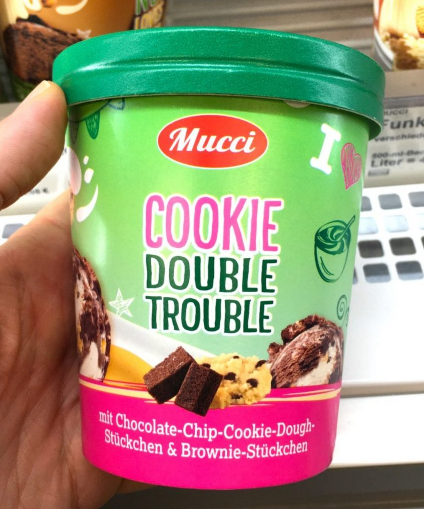 Aldi Mucci CookieDouble Trouble Eiskrem