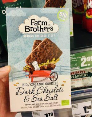 Farm Brothers Biokekse Dark Chocolate+Sea Salt