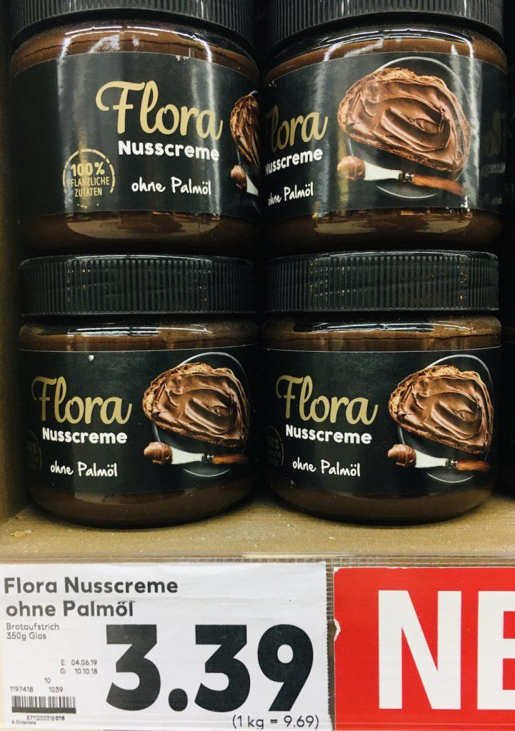 Flora Nusscreme ohne Palmöl