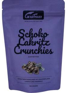 Gartmann Schoko Lakritz Crunchies Zartbitter 125g