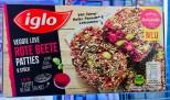 Iglo Rote Beete Patties 6 Stück mit Hafer-Panade-Leinsamen