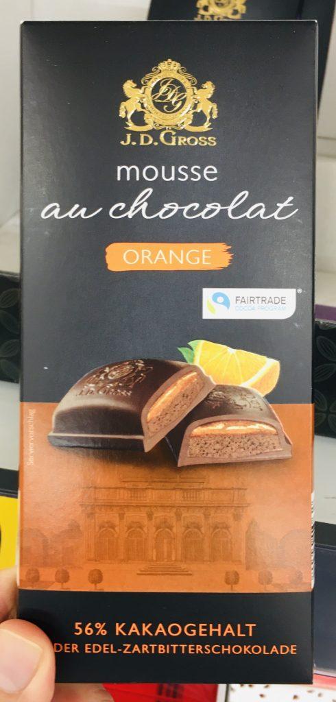Lidl JD Gross Mousse au Chocolat Orange 56% Kakaogehalt Edelzartbitter