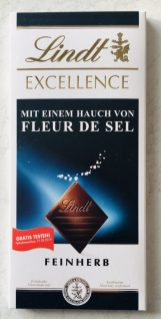 Lindt Excellence mit einem Hauch von Fleur de Sel Feinherb