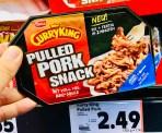 Meica CurryKing Pulled Pork Snack mit voll viel BBQ-Sauce