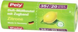 Pely Duftmüllbeutel mit Zugband Zitrone