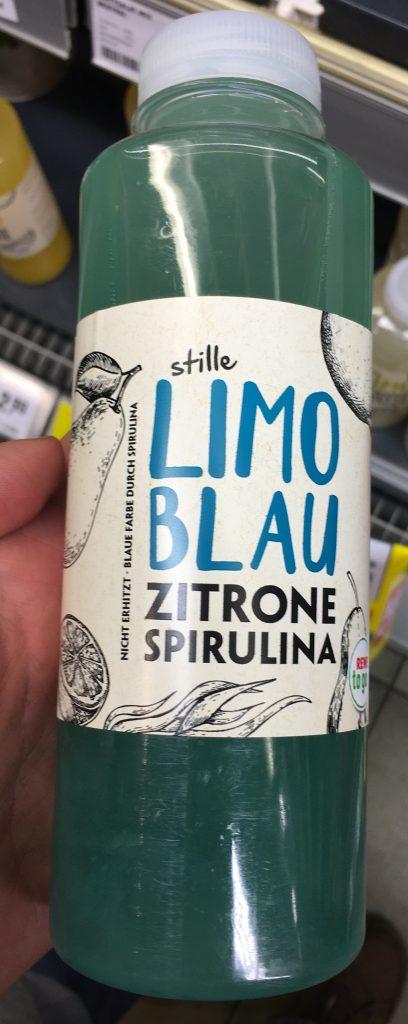 Rewe To Go Stille Limo Blau Zitrone-Spirulina