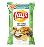 """Lays Kartoffelchips """"Fried Pickles with Ranch"""""""