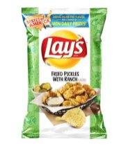 "Lays Kartoffelchips ""Fried Pickles with Ranch"""