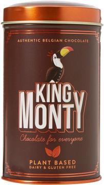 Blechdose mit Orangenschokolade von King Monty.