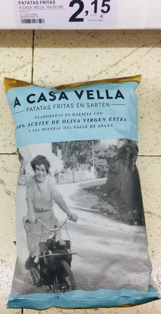 A Casa Vella Retrofotomotiv Kartoffelchips aus Spanien mit Olivenöl