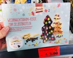 Aldi Biscotto Weihnachtsbaum-Kekse zum Selbstbasteln als Set 200 Gramm