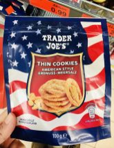 Aldi Trader Joe's Thin Cookies American Style Erdnuss-Meersalz 100 Gramm