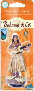 Bahama & Co Car Freshener Oahu island Splash Figur mit Baströckchen