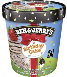 Ben & Jerry's Birthday Cake Eiskrem