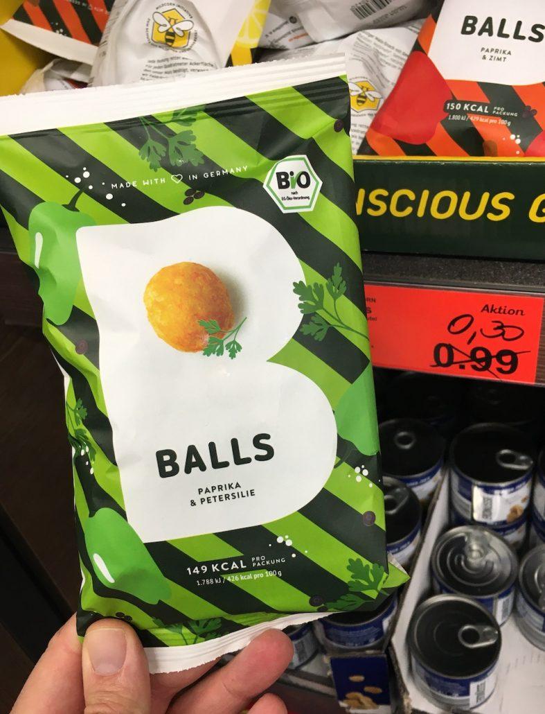 Bio-Balls Snack Paprika-Petersilie von Propercorn