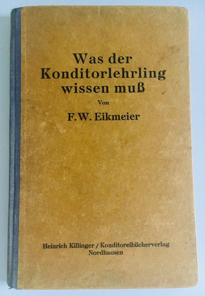 """Buchumschlag """"Was der Konditorlehrling wissen muss"""""""