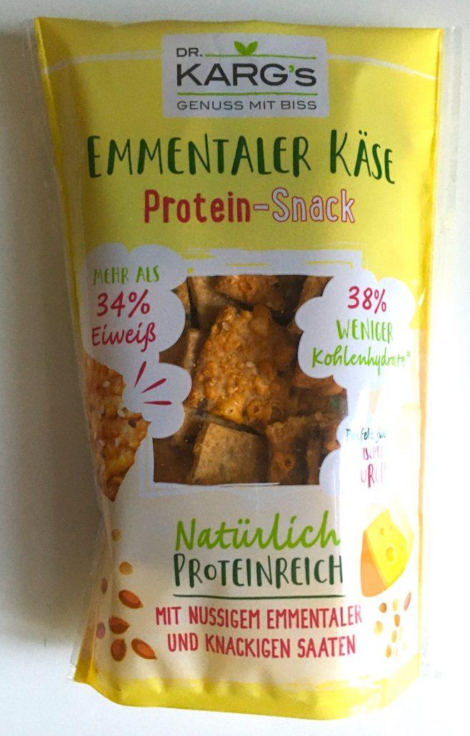 Dr. Karg's Emmentaler Käse Protein-Snack 34% Eiweiß