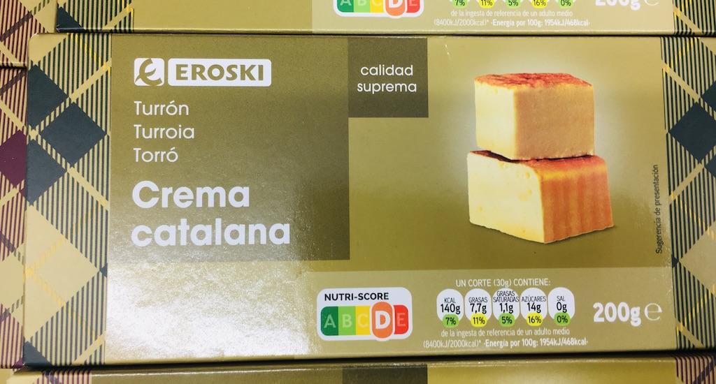 Eroski Turron Crema catalana