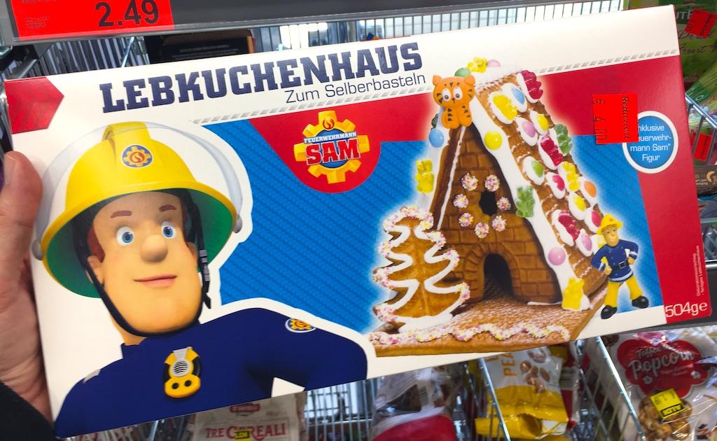 Feuerwehrmann Sam Lebkuchenhaus zum Selberbasteln 504 Gramm