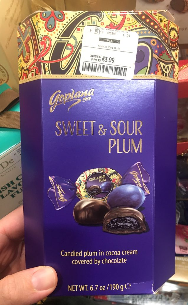 Goplana Polen Sweet+Sour Plum in Chocolate 190 Gramm