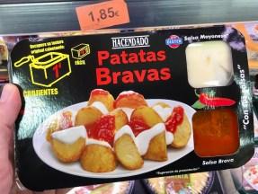 Hacendado Patatas Bravas Set Mikrowelle Friteuse als TV-Dinner