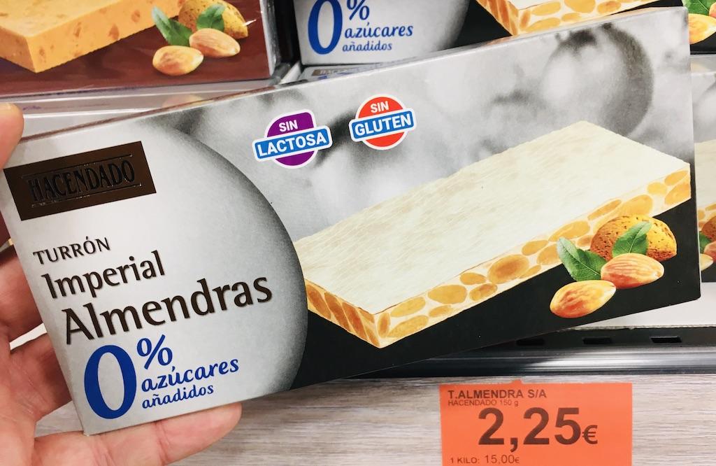 Hacendado Turron Imperial Almendras 0% Zucker Laktosefrei