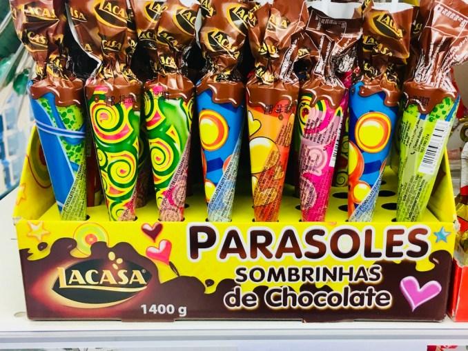 Lacasa Parasoles Sombrinhas de Chocolate Schokoschirmchen