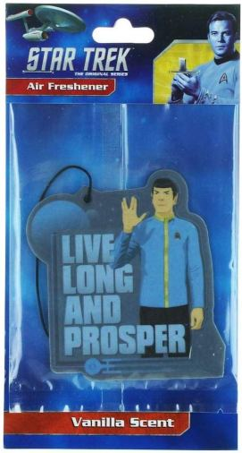 Star Trek Air Freshener Live Long and Prosper Vanilla Scent