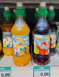 Valensina Kids Fruchtmix mit Karotte un Roter Fruchtmix mit Bibi Blocksberg und Benjamin Blümchen