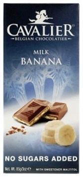 Cavalier Belgian Chocolatier Milk Banana Schokoladentafel