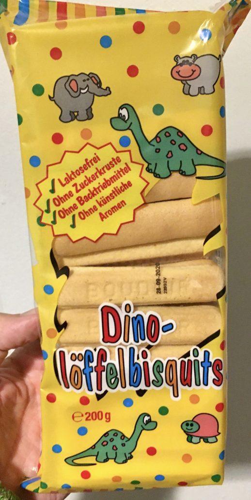 Dino-Löffelbisquits 200 Gramm Dinosaurier-Motiv