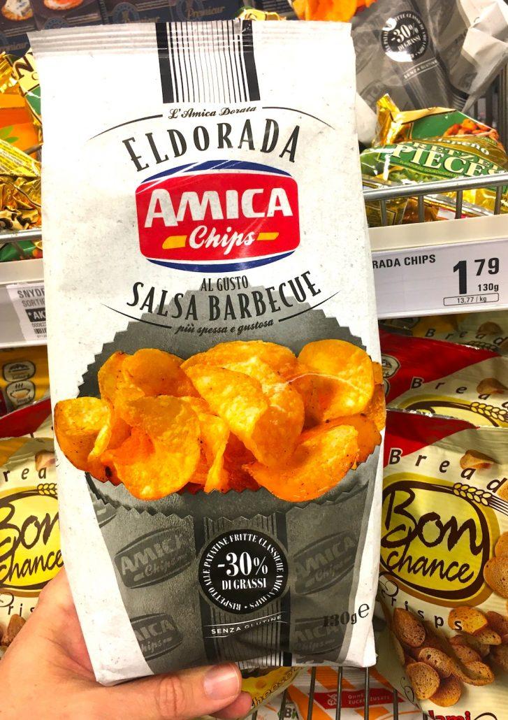 Eldorada Amica Chips Salsa Barbceue -30% Fett 130 Gramm