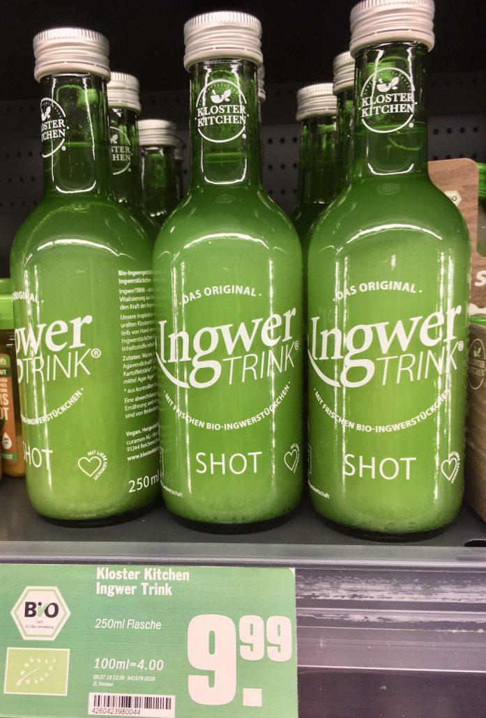 Kloster Kitchen Ingwer Trink Shot 250-ML-Flasche
