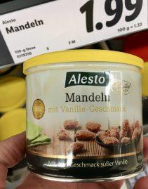 Lidl Alesto Mandeln mit Vanille-Geschmack 150 Gramm