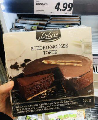 Lidl Deluxe Schoko-Mousse Torte 750 Gramm TK