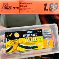 Lidl Vidal Fledermaus Flügel Fruchtgummi 400 Gramm Halloween