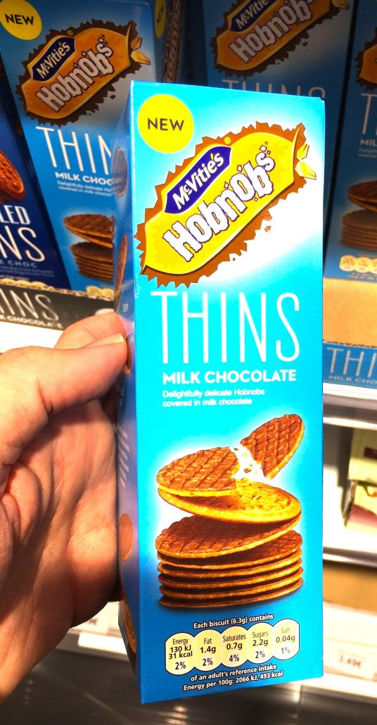 McVite's Hobnobs Thins Milk Chocolate