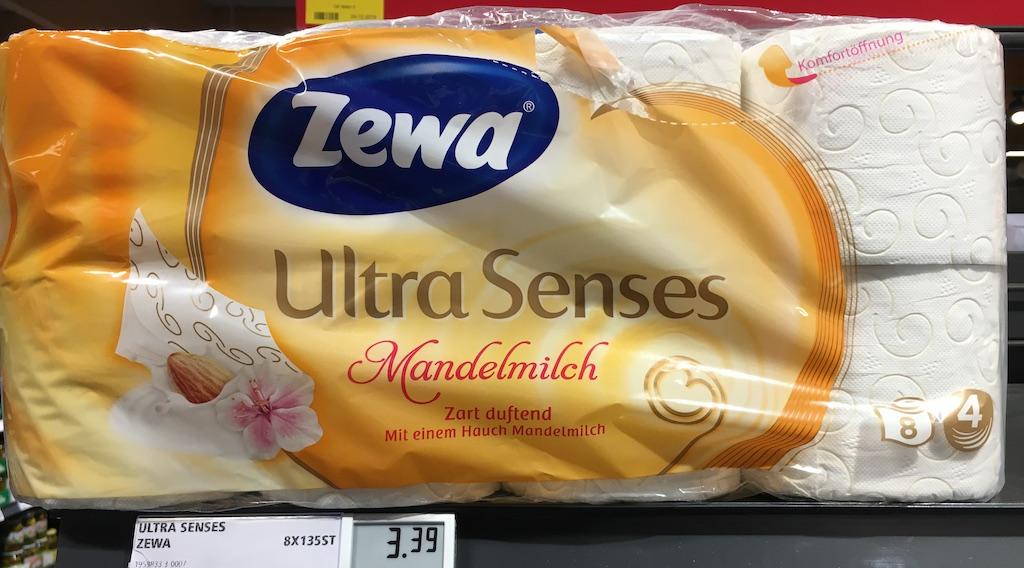 ZEWA Ultra Senses Mandelmilch Zart duftend nach einem Hauch Mandelmilch