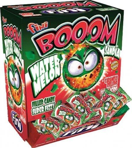 fini Boom Watermelon Filled Candy Super Fizzy Sandia Wasermelone