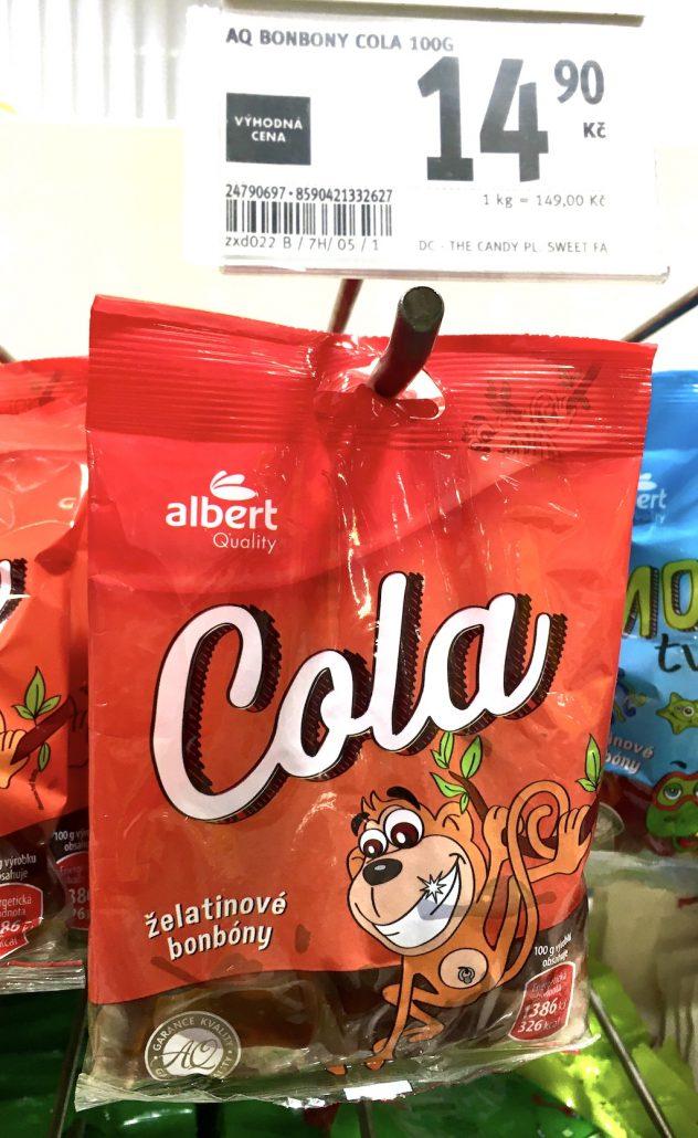 Albert Quality Cola-Flaschen Fruchtgummi Tschechien