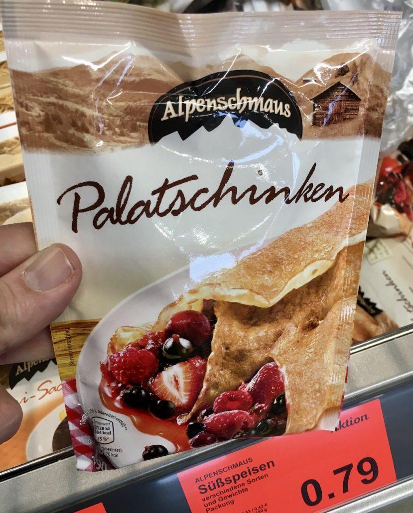 Aldi Alpenschmaus Palatschinken Backmischung