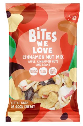 Bites we Love Cinnamon Nut Mix mit Apfel-Zimt-Nüsse und Bohnen