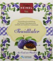 Confiserie Heindl Wien Powidltaler Zwetschkenfruchtfüllungauf feinster Marzipancreme umhüllt von Edelbitter-Schokolade