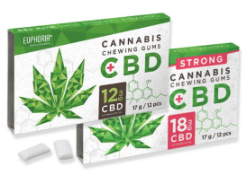 Euphoria Cannabis Chewing Gums mit CBD 12 oder 18mg CBD