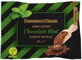 Fisherman's Friend Chocolate Mint ohne Zucker 30 Gramm