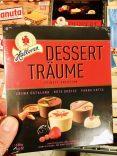 Halloren Dessert-Träume Pralinen mit Crema Catalana-Roter Grütze-Panna Cotta