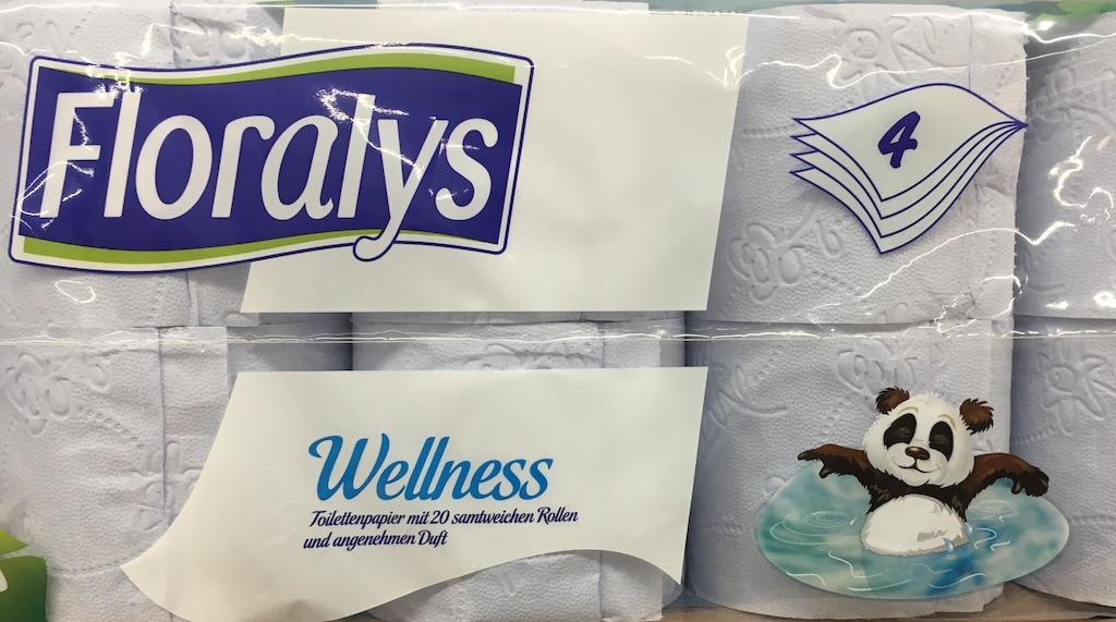 Lidl Floralys Wellness Toilettenpapier mit angenehmen Duft